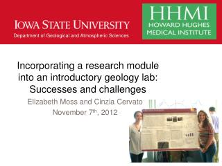 Incorporating a research module into an introductory  geology  lab: Successes and challenges
