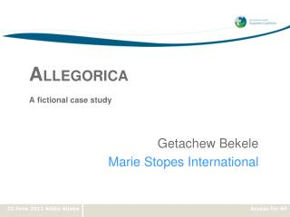 A LLEGORICA A fictional case study