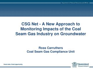 Coal Seam Gas development in Queensland