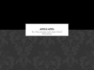 Apple Apps.