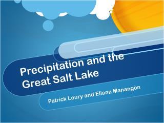 Precipitation and the Great Salt Lake
