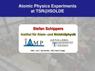 Atomic Physics  Experiments  at TSR@ISOLDE