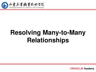 Resolving Many-to-Many Relationships