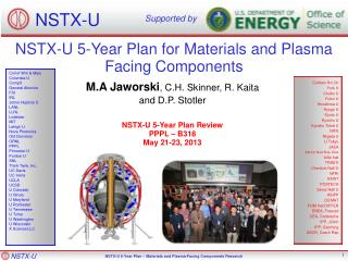 NSTX-U 5-Year Plan for Materials and Plasma Facing Components