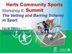 Vetting  Barring in sport