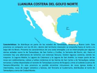 LLANURA COSTERA DEL GOLFO  NORTE