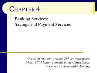 Banking Services: