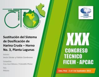 Sustitución del Sistema de Dosificación de Harina Cruda – Horno No. 3, Planta Lagunas