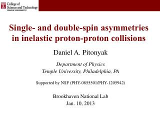 Single- and double-spin asymmetries in inelastic proton-proton collisions