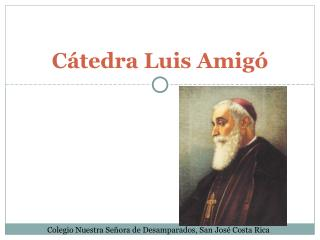 Cátedra Luis Amigó