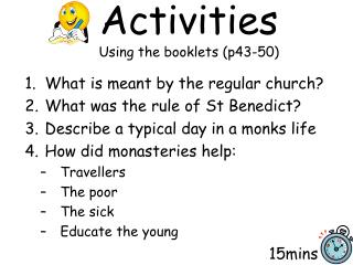 Activities Using the booklets (p43-50)