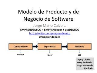 Modelo de Producto y de Negocio de Software