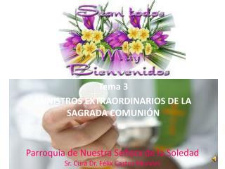 Tema 3  MINISTROS EXTRAORDINARIOS DE LA SAGRADA COMUNIÓN