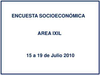 ENCUESTA SOCIOECON�MICA
