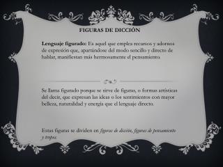 FIGURAS DE DICCIÓN
