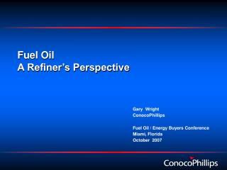 Fuel Oil A Refiner