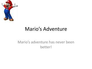 Mario�s Adventure