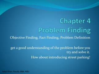 Chapter 4  Problem Finding
