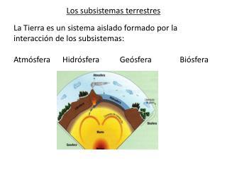 Los subsistemas terrestres