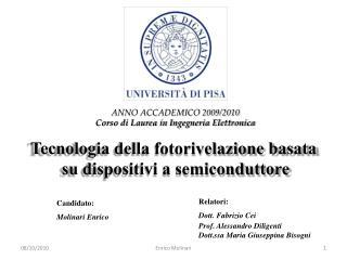 Relatori: Dott. Fabrizio Cei Prof. Alessandro Diligenti Dott.ssa Maria Giuseppina Bisogni