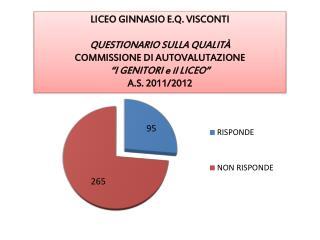 LICEO GINNASIO  E.Q.  VISCONTI  QUESTIONARIO SULLA QUALITÀ   COMMISSIONE  DI  AUTOVALUTAZIONE