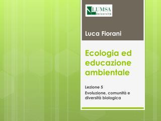 Ecologia ed educazione ambientale