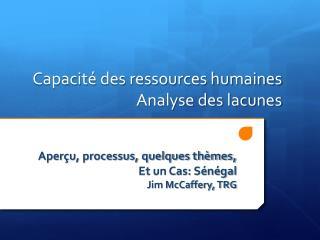 Capacitédes ressources humaines Analyse des lacunes