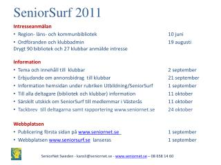 SeniorSurf  2011
