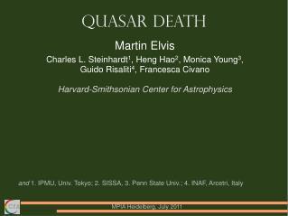 Quasar Death