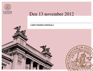 Den 13 november 2012