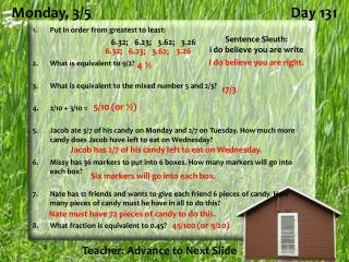 Monday,  3/5 Day 131