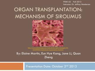 Organ Transplantation: Mechanism of Sirolimus