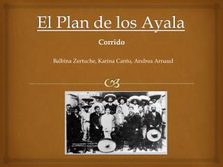 El Plan de los Ayala