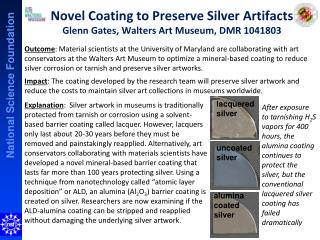 Novel Coating to Preserve Silver Artifacts Glenn Gates, Walters Art Museum, DMR 1041803