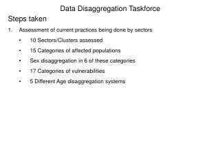 Data Disaggregation Taskforce