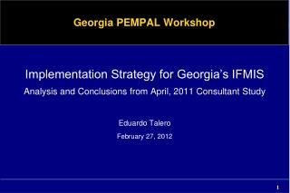 Georgia PEMPAL Workshop