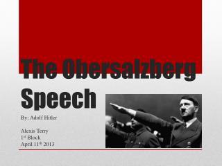 The Obersalzberg Speech