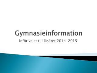 Gymnasieinformation