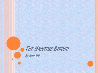 The Universe Beyond
