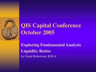 QIS Capital Conference October 2005