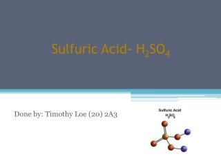 Sulfuric Acid-  H 2 SO 4