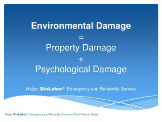 Environmental Damage = Property Damage + Psychological Damage