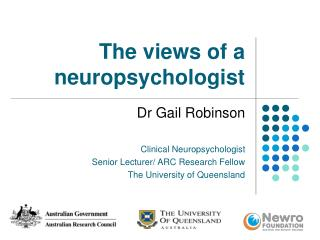 The views of a neuropsychologist
