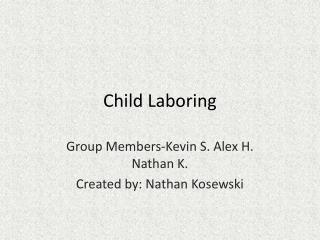 Child Laboring