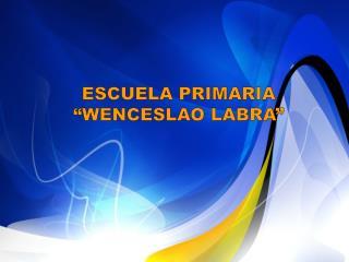 """ESCUELA PRIMARIA """"WENCESLAO LABRA"""""""