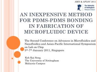an  inexpensive method for  pdms-pdms  bonding in fabrication of microfluidic device