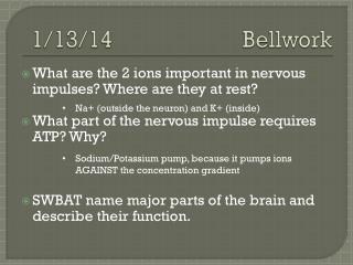 1/13/14 Bellwork