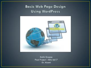 Basic Web Page Design Using WordPress