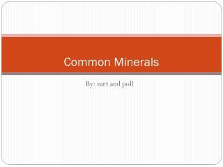 Common Minerals