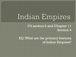 Indian Empires